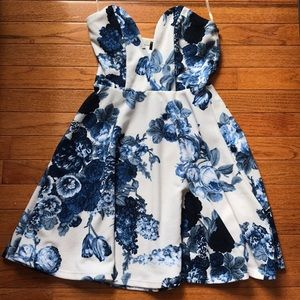 """Lulus """"All Good Things"""" Strapless Floral Dress"""